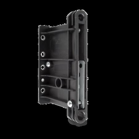 Kupplung Polystyrol, schwarz, rechts und links verwendbar, Loch für Montageschlüssel offen, Anzugsweg 12 mm, Anzugskraft 7,3 kN
