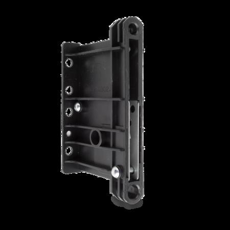 Kupplung Polystyrol, schwarz, rechts und links verwendbar, Loch für Montageschlüssel geschlossen, Anzugsweg 12 mm, Anzugskraft 7,3 kN