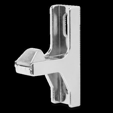 Kloben Zink-Druckguss, verchromt, rechts und links verwendbar, Innenkloben 6 mm einstellbar, Öffnungskraft 200 N