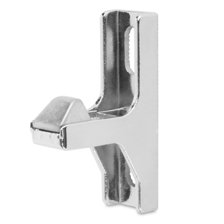Kloben Zink-Druckguss, verchromt, rechts und links verwendbar, Innenkloben 6 mm einstellbar, Öffnungskraft 600 N