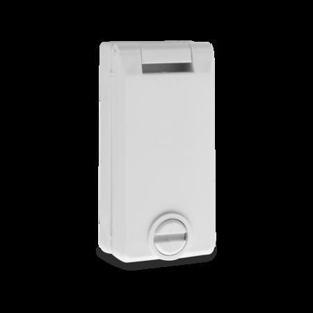 Regenschutzrosette PZ mit rückseitigen Sacklöchern, grau RAL 7035