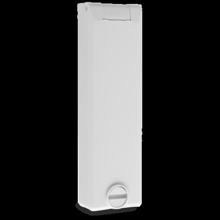 Regenschutzrosette für 2 PZ, gelocht