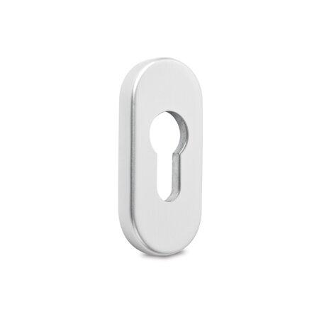 Sicherheits-Schieberosette, mit unsichtbarer Verschraubung, oval, Höhe 9 mm, Aluminium E6 / EV1 eloxiert