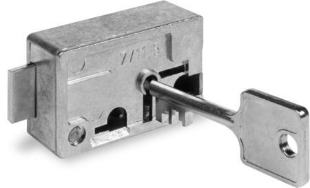Sparbuchfachschloss, GD-Zn Ausführung, 2 vernickelte Schlüssel 50 mm lang