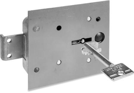 Typ 4.19.92-VDS-Schlossklasse 1/EN 1300 A Bef.-Stahlplatte ohne Mangan, Riegel Stahl,