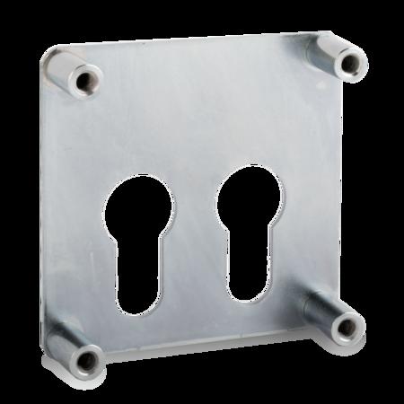 Befestigungsplatte, für zwei Profilzylinder
