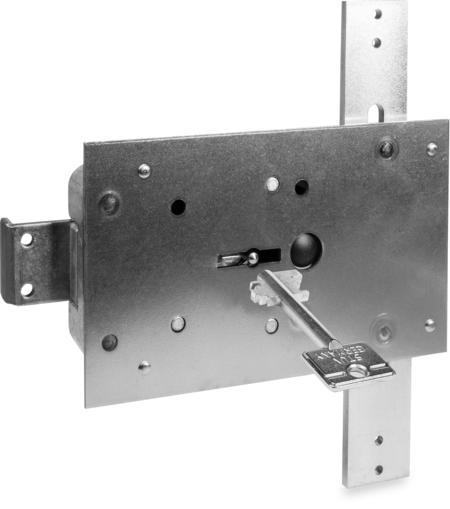 Typ 4.19.92-VDS-Schlossklasse 1/EN 1300 A mit Stangen, Bef.-Stahlplatte ohne Mangan, 2 Schlüssel 60 mm lang
