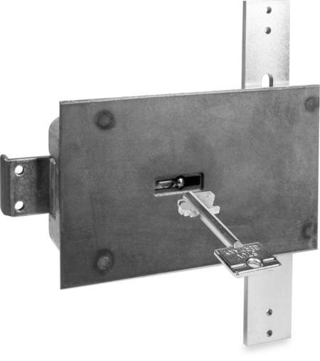 Typ 4.19.92-VDS-Schlossklasse 1/EN 1300 A Bef.-Stahlplatte mit Mangan, Riegel Stahl, mit Stangen, 2 Schlüssel 60 mm lang