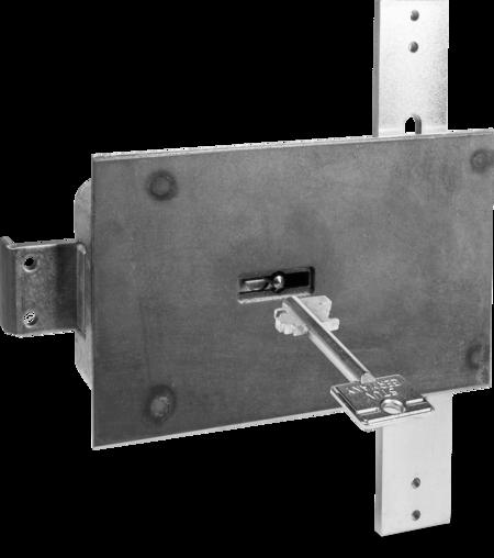 Typ 4.19.92-VDS-Schlossklasse 1/EN 1300 A Bef.-Stahlplatte mit Mangan, Riegel Stahl mit Stangen, 2 Schlüssel 60 mm lang