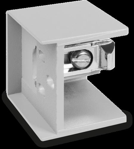 Schließkloben Zink-Druckguss, EPS beschichtet grau RAL 7038, rechts und links verwendbar, Überschlag 28 - 32 mm, Innenkloben 6 mm einstellbar