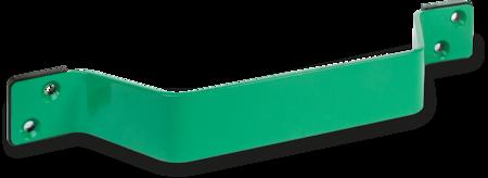 Schutzbügel Stahl, EPS beschichtet verkehrsgrün RAL 6024, mit 2 Unterlagen aus PA6