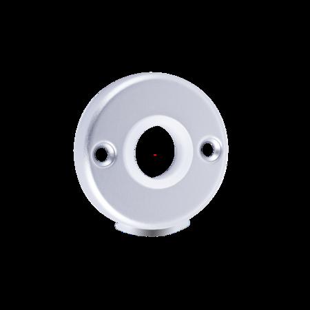 Türdrückerrosette rund, Aluminium E6 / EV 1 eloxiert, mit Kunststoff Führungsring sichtbare Verschraubung, Lochabstand 38 mm, Höhe 6 mm