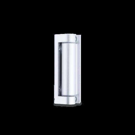 Aluminium Scharnier 70 mm, E6 / EV1 eloxiert, Flügelteil mit Kunststoffbuchsen, Rahmenteil gerade, Stift Edelstahl