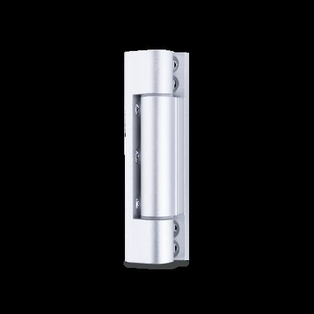 Aluminium Scharnier 92 mm, E6 / EV1 eloxiert, Flügelteil mit Kunststoffbuchsen, Rahmenteil gerade, Stift Edelstahl