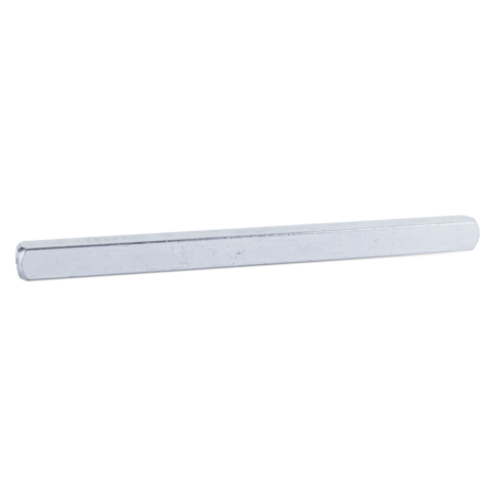 Vierkantstift Stahl, weiß cB verzinkt, 10 x 120 mm