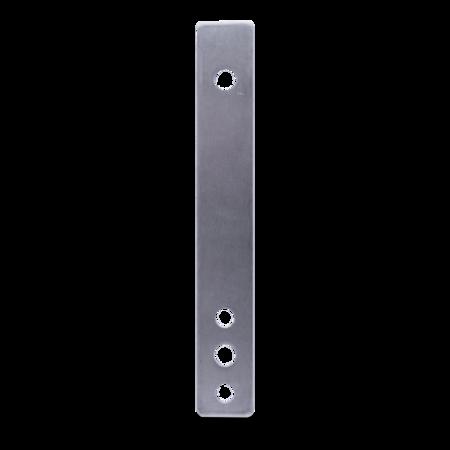 Unterlage Edelstahl, blank, rechts und links verwendbar, Höhe 3 mm, für 3-teilige Edelstahl Lappenund Eckscharniere
