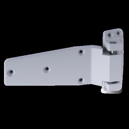 Lappenscharnier Zink-Druckguss, EPS beschichtet grau RAL 7038, rechts, steigend, für bündige Türen