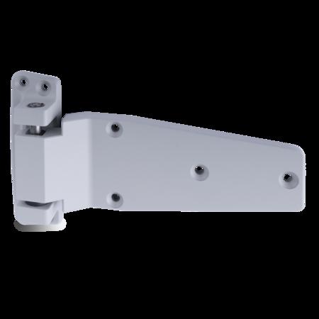 Lappenscharnier Zink-Druckguss, EPS beschichtet grau RAL 7038, links, steigend, für bündige Türen