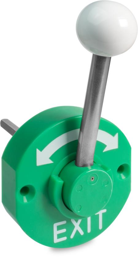 Notöffner Kunststoff, verkehrsgrün ähnl. RAL 6024, rechts und links verwendbar, Türstärke 81 100 mm