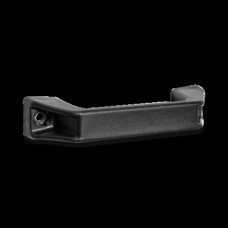 Handgriff 140 x 40 mm Polyamid PA6 schwarz Lochabstand 120 mm, Befestigungsbohrung für Sechskantschraube M 6 DIN 933