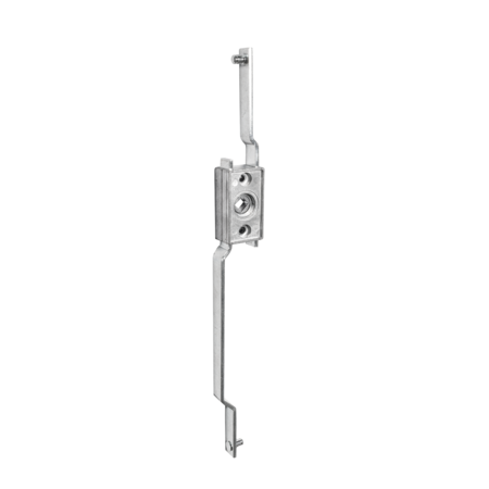 Stangenschloss GD-ZnAl mit zwei Stangen Anschlussmaß 348 mm, Vierkant 8 mm, Hub 24 mm, Stangenanschluss Rund 6 mm mit Sicherungsscheibe