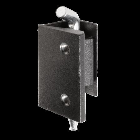 180° Scharnier GD-Zn RAL 9005 schwarz gepulvert für 25 mm Abkantung Türstärke 1,5 - 2,0 mm, Stift Stahl weiß cB verzinkt ohne Zubehör
