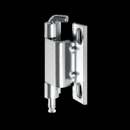 120° Verschwindband Stahl weiß cB verzinkt für 20 mm Abkantung mit Winkelstift