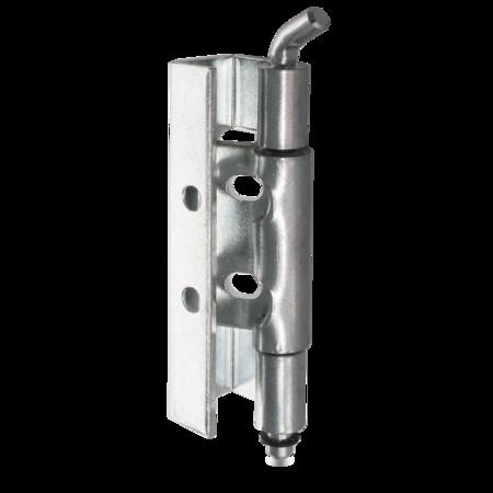 120 Grad Scharnier Stahl galvanisch weiß cB verzinkt, Stift St verzinkt mit Nut und Sicherungsring