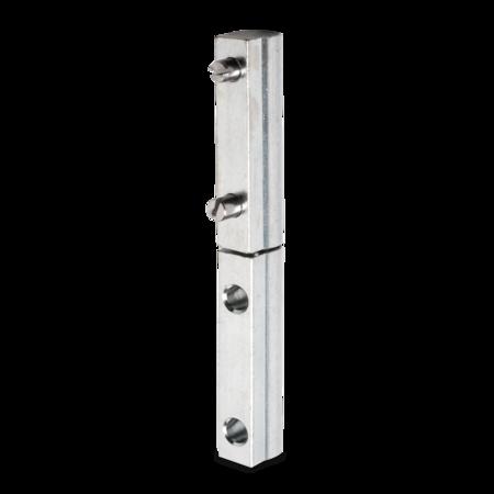 Profilscharnier 95 mm weiß cB verzinkt mit Schraubbefestigung unten und Schweißbefestigung oben, DIN rechts/links verwendbar