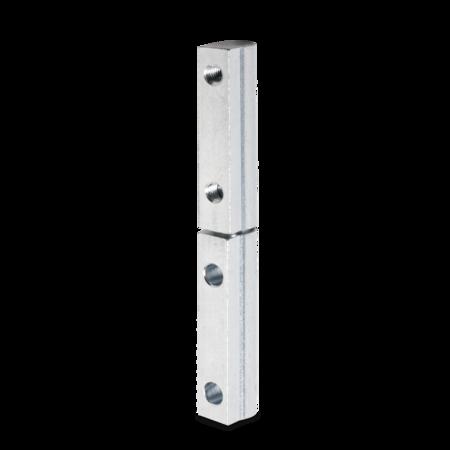 Profilscharnier 95 mm weiß cB verzinkt mit Schraubbefestigung oben und unten DIN rechts/links verwendbar