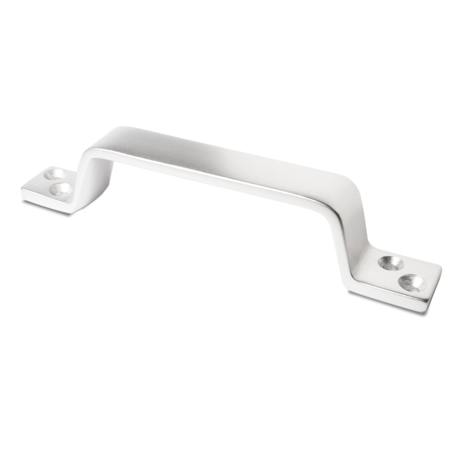 Handgriff Aluminium E6 / EV 1 silber eloxiert mit versenkten Schraublöchern, Senkung Am 5 DIN 74