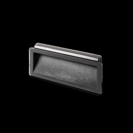 Muschelgriff ABS- Kunststoff 90 mm schwarz Montageöffnung: 83 x 34 mm, für Wandstärke 0,75 - 1,5 mm