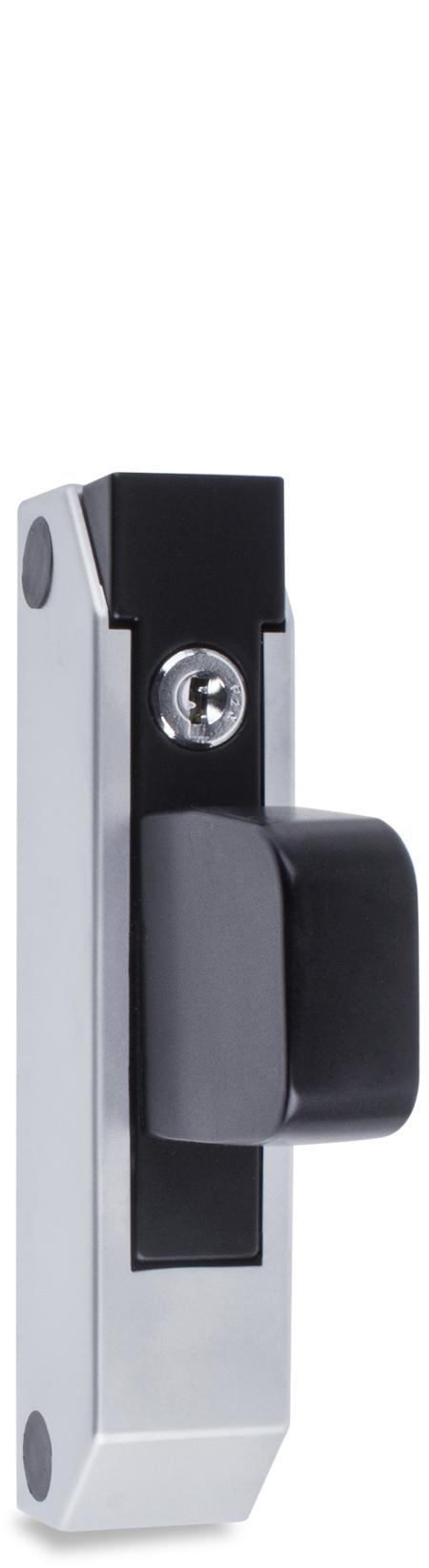 Schubladenverschluß mit Zylinder Griff verkürzt, Halterung 49 mm hoch verschiedenschließend