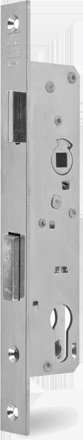 Einsteckschloss 24 Dorn, Falle und Riegel 5 mm vorstehend, DIN rechts