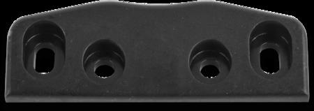 Schließkloben Polyamid 6.6, schwarz ähnl. RAL 9005, rechts und links verwendbar, Höhe 11 mm