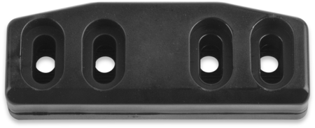 Schließkloben Polyamid 6.6, schwarz ähnl. RAL 9005, rechts und links verwendbar, Höhe 18 mm, einstellbar durch Rasterplatte, für Verschlüsse mit Falle