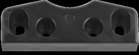 Schließkloben Polyamid 6.6, schwarz ähnl. RAL 9005, rechts und links verwendbar, Höhe 18 mm