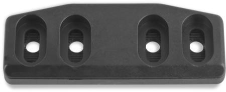 Schließkloben Polyamid 6.6, schwarz ähnl. RAL 9005, rechts und links verwendbar, Höhe 11 mm, einstellbar durch Rasterplatte, für Verschlüsse mit Falle