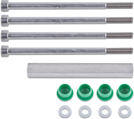 """Zubehör Verschluss """"KOMPAKT"""" rechts und links verwendbar, Türstärke 135 mm, bestehend aus: 4 x Schrauben mit UScheiben, 1 x Vierkantstift und 4 x Stopfen"""