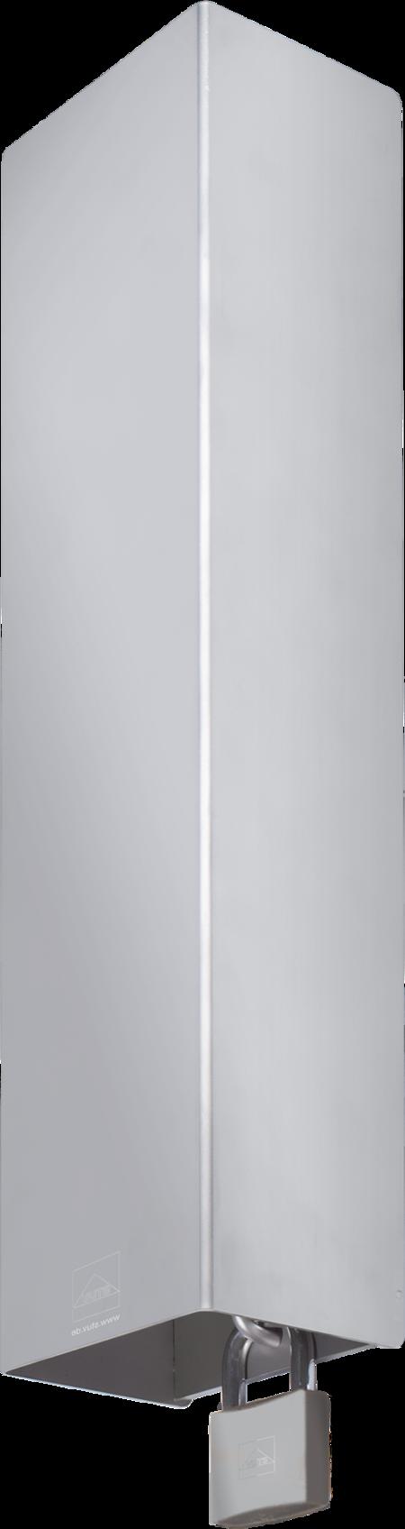 Schutzgehäuse für Kühl- und Tiefkühlraumtürverschlüsse Edelstahl, gesandstrahlt, rechts und links verwendbar, Höhe 85 mm, inklusive Anschraubplatte, inklusive Verschlussbügel, ohne Befestigungsmaterial, für Hangschloss Artikel-Nr. 1.98.0522.0