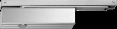 Türschließer TS 51 mit Gleitschiene Größe 1-4 incl. Montageplatte, silberfarbig RAL 9006, Gleitschiene Bandseite