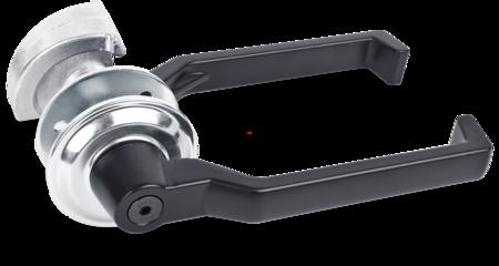 Hebelverschluss Leichtmetall mit Schnecke EPS schwarz beschichtet, mit Schließbolzen Stahl blank, TS= 100 - 105 mm