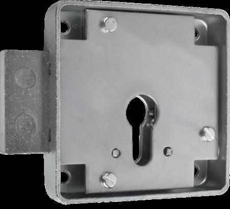 Kastenriegelschloss PZ, Dornmaß 45 mm, einfacher Abzug, rechts