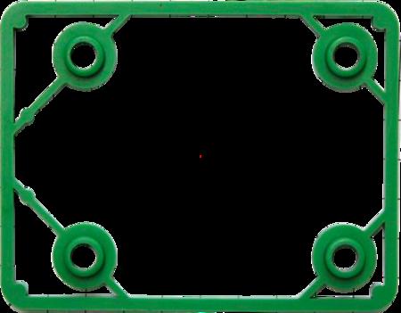 """Unterlage Verschluss """"KOMPAKT"""" Kunststoff PA6, grün, rechts und links verwendbar, Höhe 6 mm"""