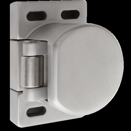 Verschlusselement Edelstahl, gesandstrahlt, rechts und links verwendbar, Anpressdruck einstellbar ca. 260 330 N, mit Edelstahl-Rolle, mit Rasterplatte