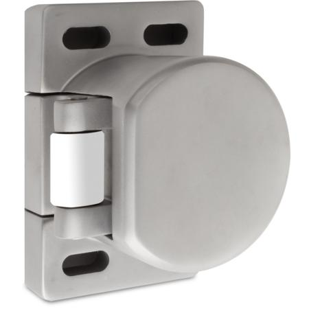 Verschlusselement, aus Edelstahl, mit Kunststoff-Rolle, verstellbarer Anpressdruck