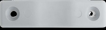 Schließkloben Polyamid 6.6, silbergrau ähnl. RAL 7001, rechts und links verwendbar, Höhe 9 mm, flache Ausführung