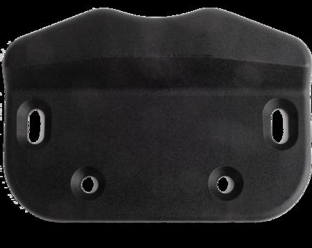 Schließkloben Polyamid PA6, schwarz ähnl. RAL 9005, rechts und links verwendbar, Höhe 15 mm, lange Ausführung