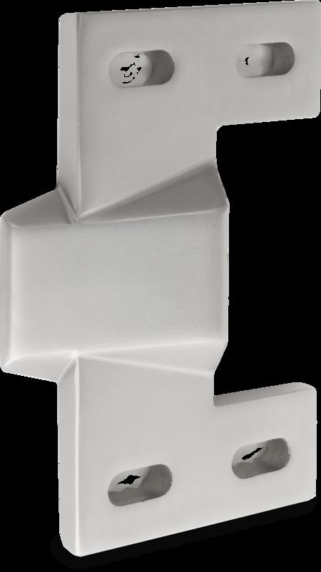 Schließkloben Edelstahl, gesandstrahlt, rechts und links verwendbar, für aufliegende Türen, einstellbar