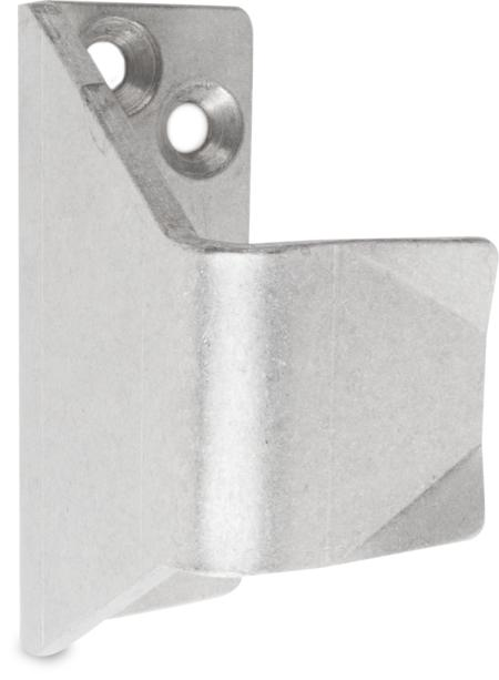 Schließkloben Edelstahl, gleitgeschliffen, rechts und links verwendbar, Höhe 54 mm, U-Form für nach innen öffnende Türen